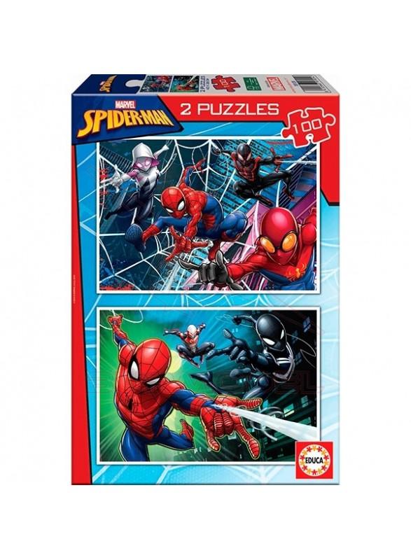 Set 2 puzzles spiderman