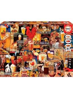 Puzzle 1000 piezas cerveza vinta