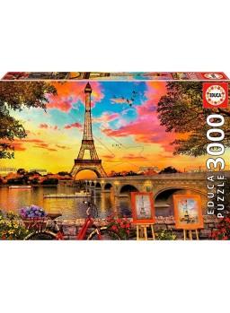 Puzzle 3000 piezas puesta de sol en Paris