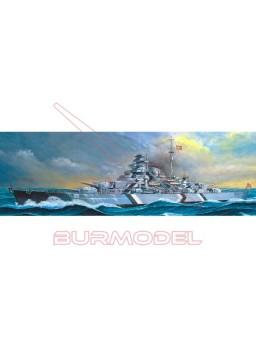 Maqueta navío Bismarck 1/350