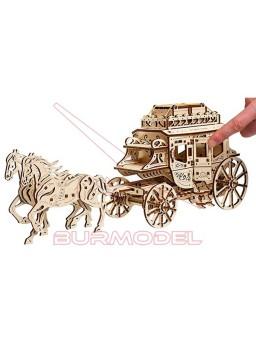Maqueta madera diligencia postal 248 piezas