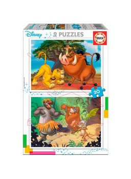 Set 2 puzzles personajes disney