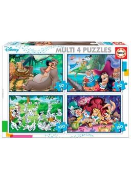 Puzzle multi 4 puzzles clasic