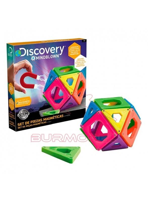 Set de piezas magnéticas para construcciones 3D