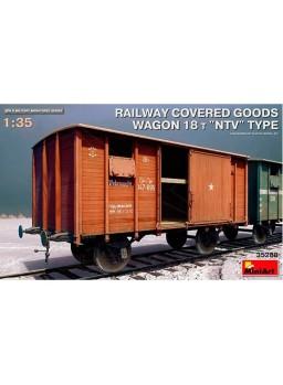 Vagón Railway covered goods 1/35