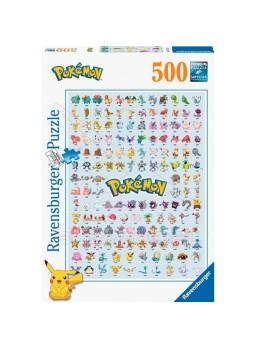 Puzzle 500 piezas Los primeros 151 Pokemon