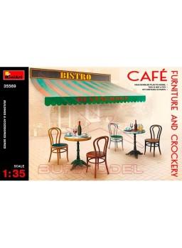 Mobiliario y vajilla cafetería