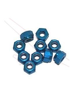 Tuerca Autoblocante Aluminio M3 Azul (10u.)