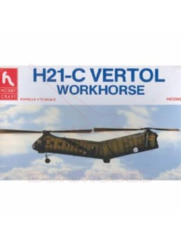 Maqueta avión H21-C Vertol Workhorse.