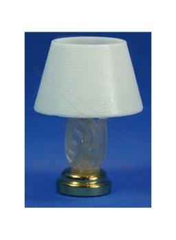 Lámpara de mesa blanca de led