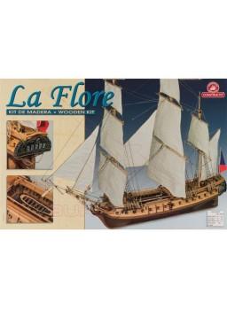 Barco de madera La Flore. Escala 1/84