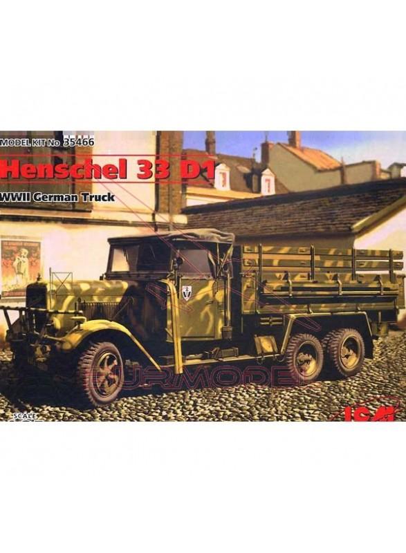 Maqueta vehículo alemán Henschel 33 D1 (II GM)