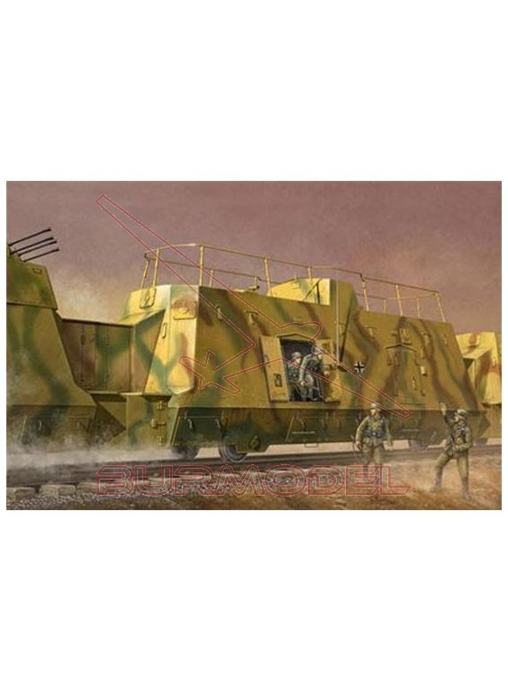 Maqueta vagón comando alemán 1:35