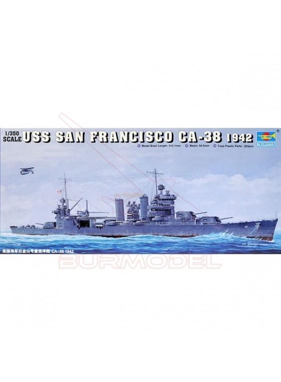 Maqueta barco San Fco. CA38 1/350