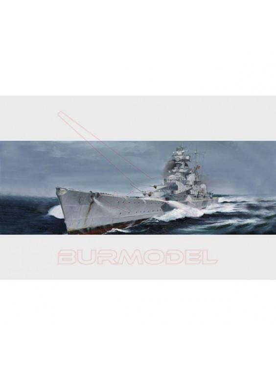 Maqueta barco Admiral Hipper 1940 alemán 1:700