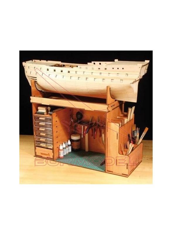 Mueble portátil para construcción de barcos