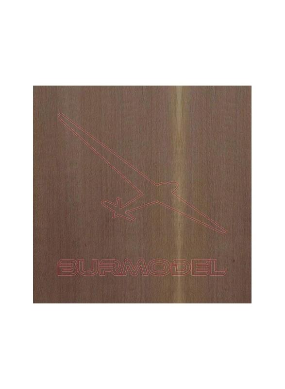 Paquete chapa de forro nogal 0.6x6 mm (20 unid.)