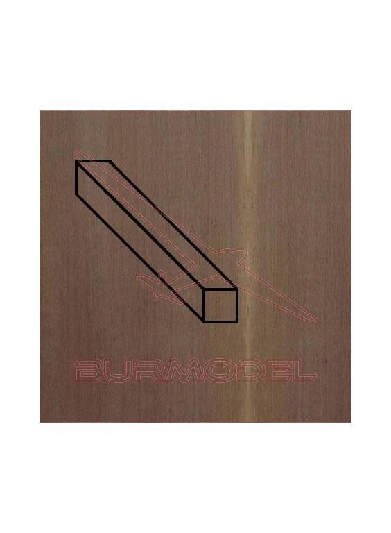 Paquete listón nogal 1.5 x 8 mm (4 unidades)