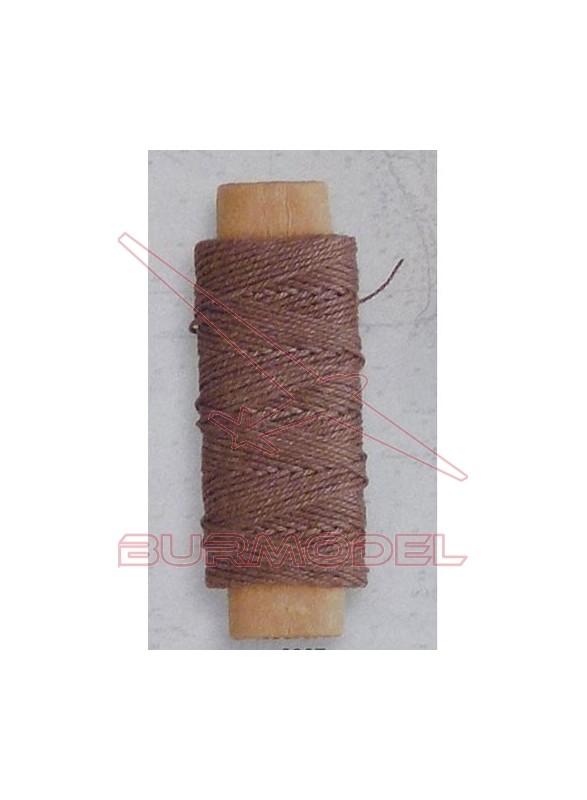 Hilo marrón de algodón 0.50 mm (20 m)