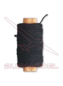 Hilo negro de algodón 0.75 mm (10m)