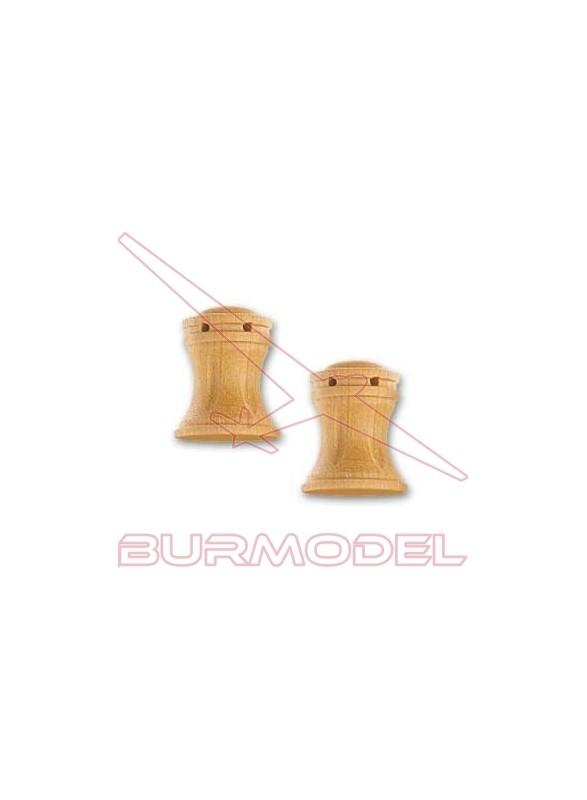 Cabestrante vertical fresado 16 mm (2 unidades)