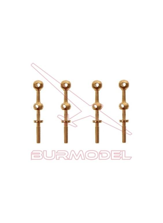 Candelero 2 orificios 2 x 14 mm (4 unidades)