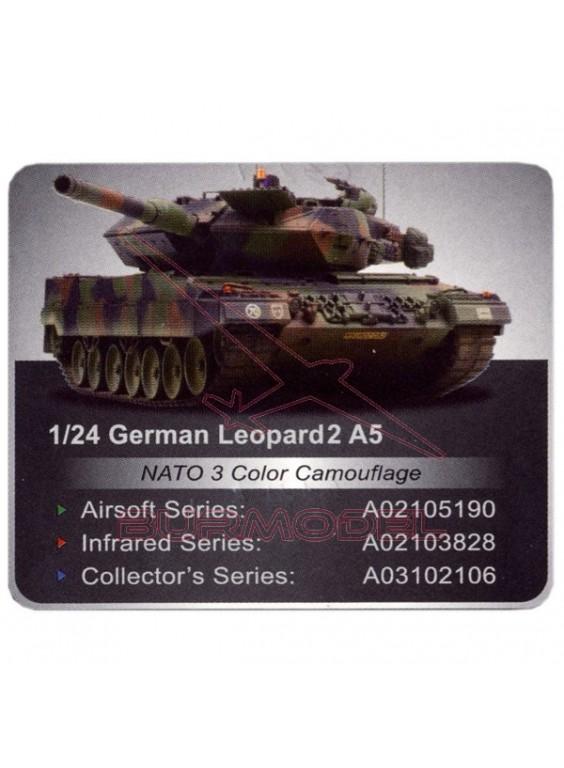 Tanque RC German Leopard2 A5 nato 1:24 infrarrojos