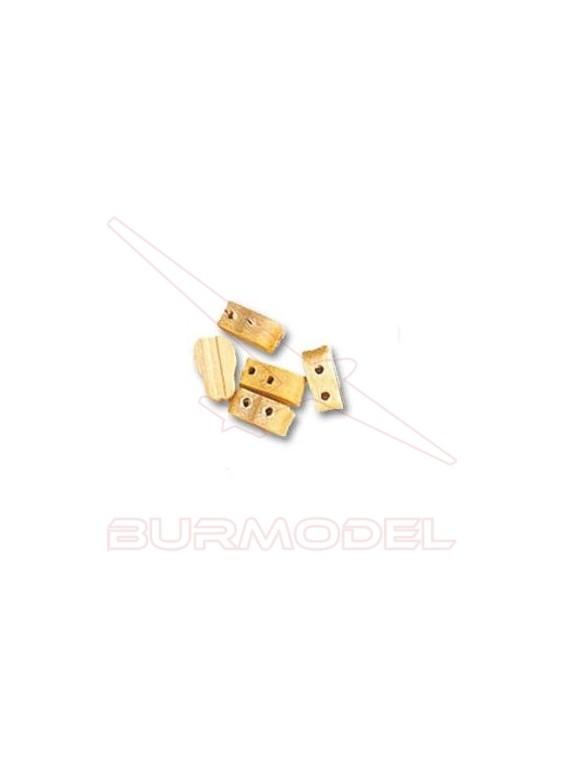 Motón violín 2 orificios 7 mm (6 unidades)
