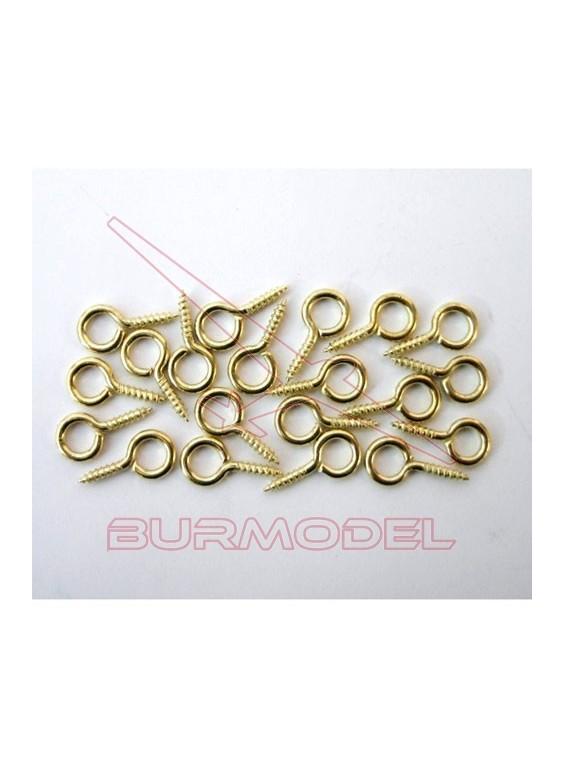Ojos de tornillo casitas de muñecas. 1,4*11mm (50