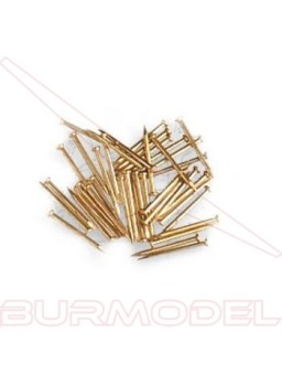 Puntas de hierro latonado 10 mm (200 unidades)
