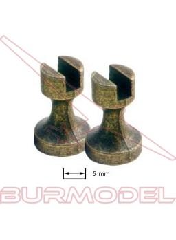 Soporte de peana en metal quillas 5 mm (2 unid.