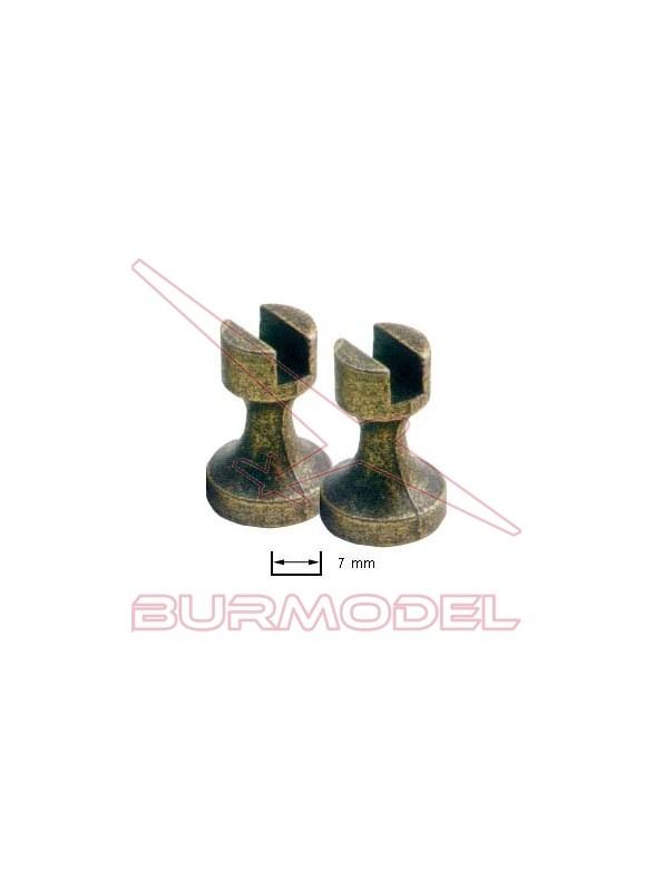 Soporte de peana en metal quillas 7 mm (2 unid.)