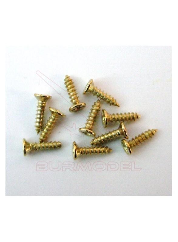 Tornillería 9 mm para casitas. (20 unidades)