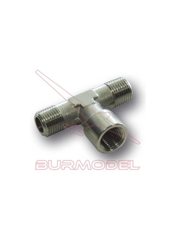 Adaptador compresor a 2 aerógrafos