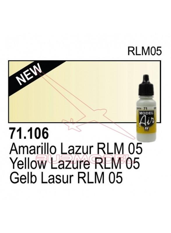 Pintura Vallejo Amarillo vela RLM 5 106