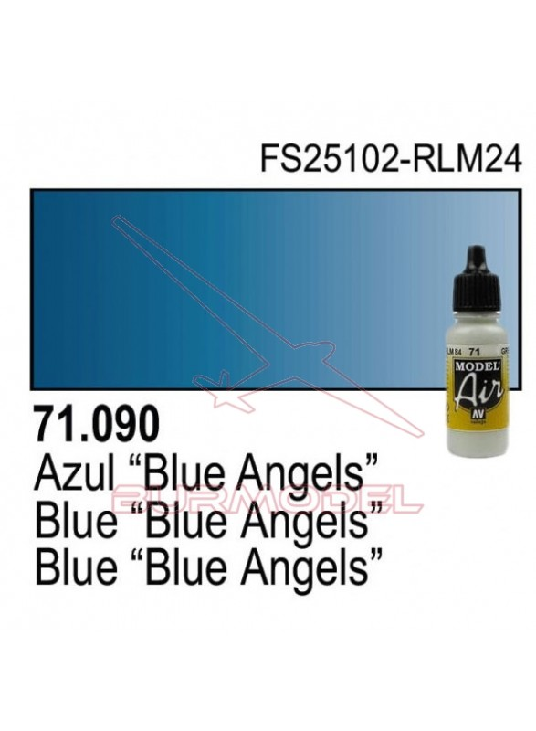 Pintura Vallejo Angel Azul 090