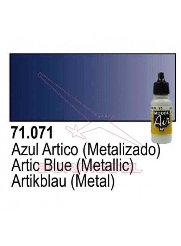 Pintura Vallejo Azul ártico metal 071
