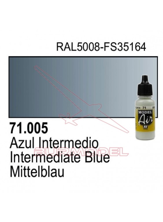 Pintura Vallejo Azul intermedio 005