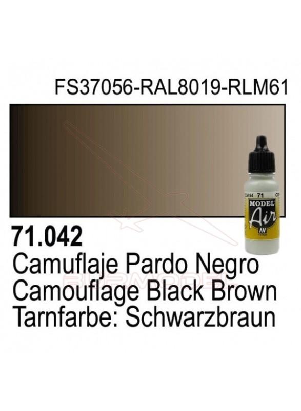 Pintura Vallejo Cam Pardo Negro 042