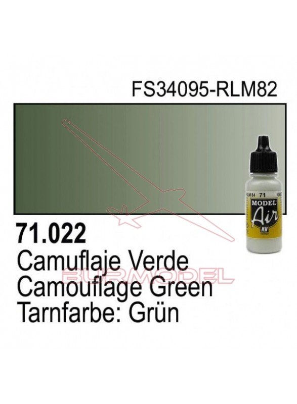 Pintura Vallejo Cam Verde 022