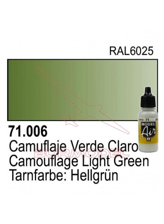 Pintura Vallejo Cam. Verde claro 006