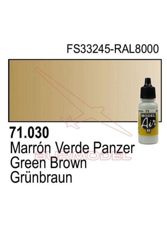 Pintura Vallejo Marrón verde panzer 030