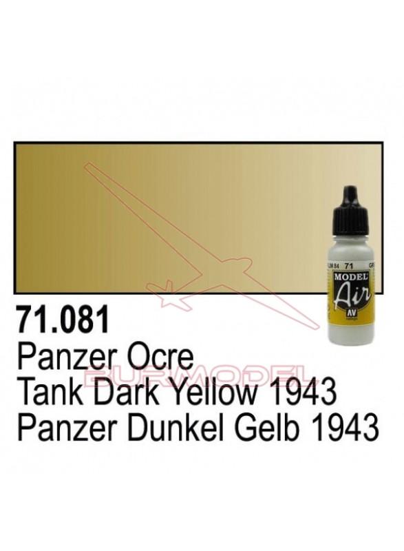 Pintura Vallejo Panzer ocre 081