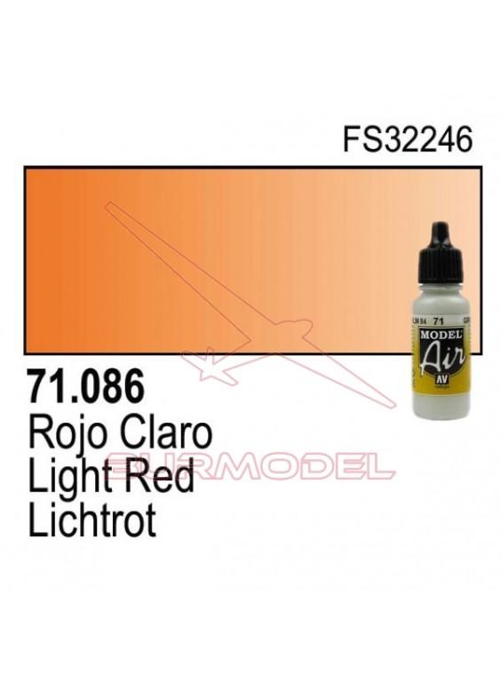 Pintura Vallejo Rojo claro 086