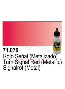 Pintura Vallejo Rojo señal metal 070