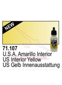 Pintura Vallejo USA Amarillo interior 107