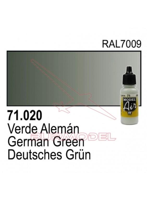 Pintura Vallejo Verde alemán 020