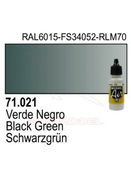 Pintura Vallejo Verde negro 021