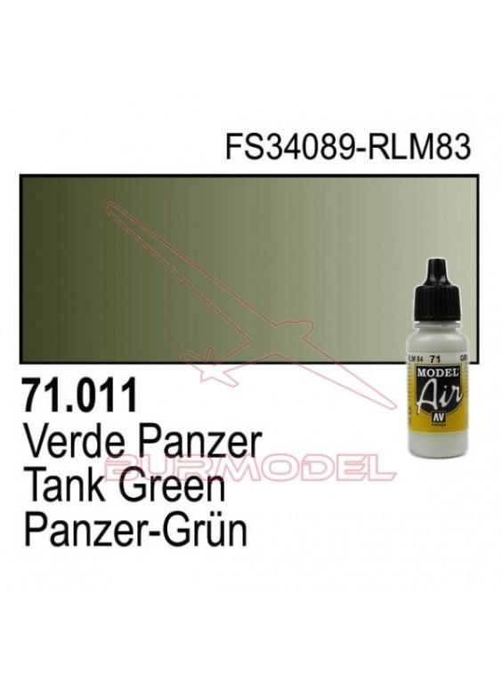 Pintura Vallejo Verde Panzer 011