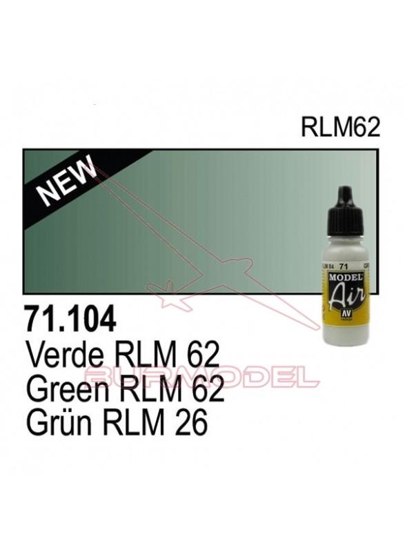 Pintura Vallejo Verde RLM 25 104